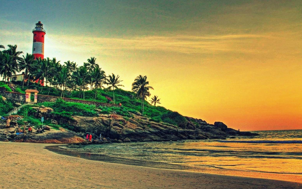 Kovalam Beach Intense India Tours